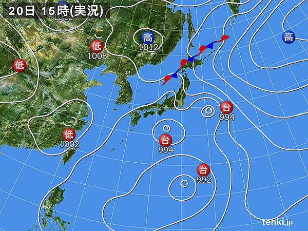 台風が来てる